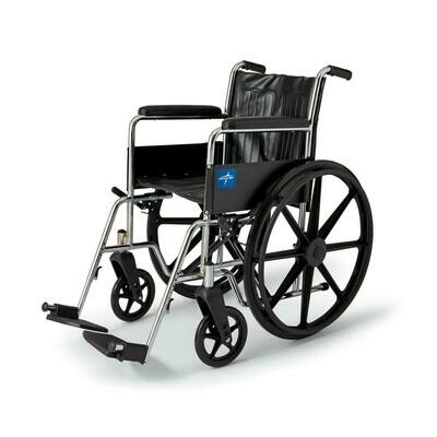 2000 Series Wheelchairs Excel Wheelchair, Permanent Arms, Fixed Footrests, 18