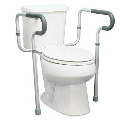 Toilet Safety Rail McKesson Gray Aluminum FRAME, TOILET SFTY W/WATERFALLARMREST 19-23.5