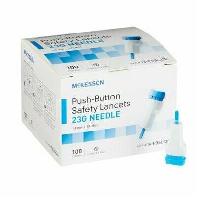 Lancet McKesson Fixed Depth Lancet Needle 1.8 mm Depth 23 Gauge (100/BX 20BX/CS)