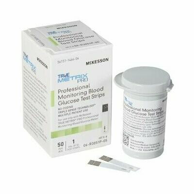 Blood Glucose Test Strips McKesson TRUE METRIX® (50/BX 24BX)