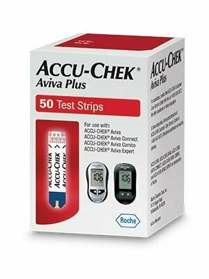 Blood Glucose Test Strips Accu-Chek® Aviva Plus 50 Strips per Box Tiny 0.6 microliter drop For Accu-Chek® Aviva , Accu-Chek® Aviva Connect , Accu-Chek® Aviva Combo , Accu-Chek® Aviva Expert Meters TES