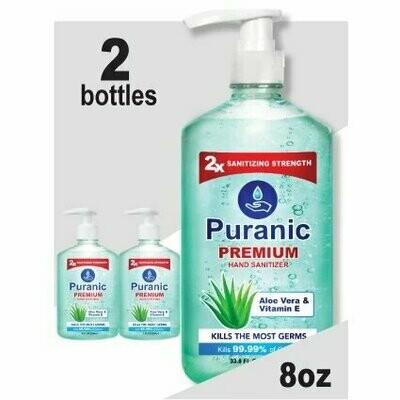Puranic Aloe Vera and Vitamin E Hand Sanitizer Family Value 2 Pack