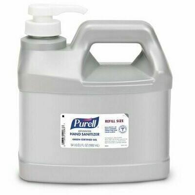 Hand Sanitizer Purell® Advanced Green Certified 64 oz. Ethyl Alcohol Gel Dispenser Refill Bottle - EA/1