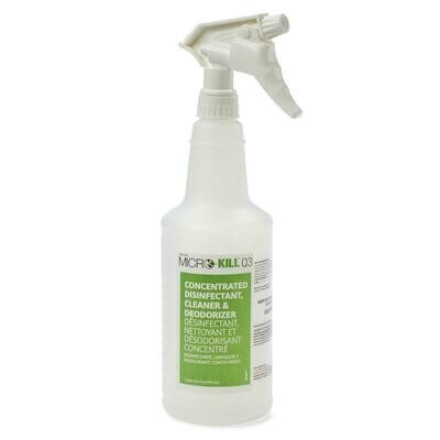 Micro-Kill Q3 Concentrated Disinfectant, Cleaner & Deodorizer - 6 Each / Case
