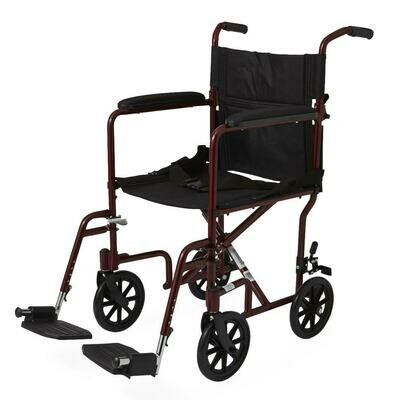 Basic Aluminum Transport Chair with 8
