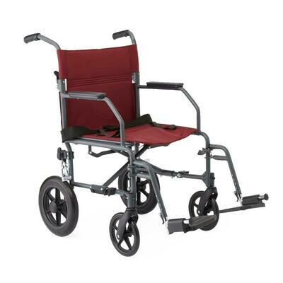 Basic Aluminum Transport Chair with 12