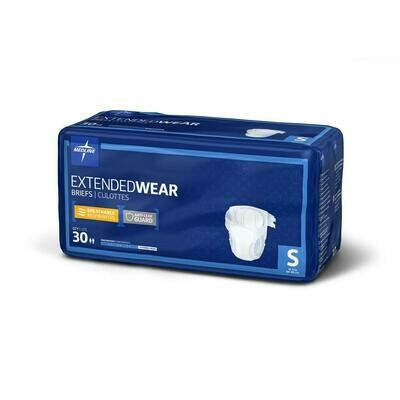 Extended Wear High-Capacity Adult Incontinence Briefs 30 Each S