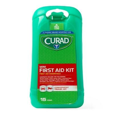 CURAD 15-Piece Mini First Aid Kit 24 Box