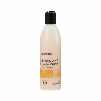 Shampoo and Body Wash McKesson 8 oz. Flip Top Bottle Apricot Scent