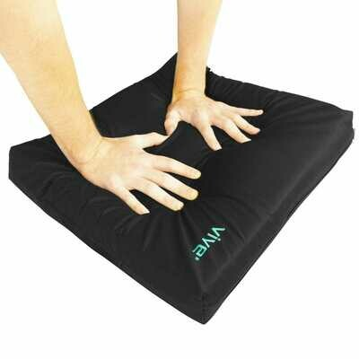 Vive Wheelchair Cushion - Gel Seat Pad for Coccyx, Orthopedic Back Support