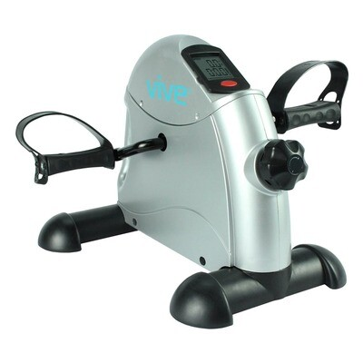 Vive Desk Bike Cycle - Foot Pedal Exerciser - Foldable Portable Foot, Hand, Arm, Leg Exercise Pedaling Machine