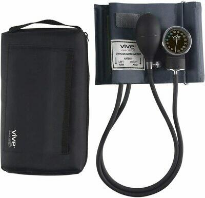 Vive Precision Aneroid Sphygmomanometer with Case - Manual Blood Pressure Checker