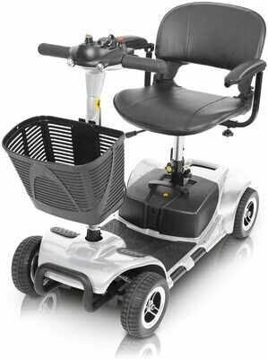 Vive 4 Wheel Mobility Scooter - Electric Powered Wheelchair Device (Grey)