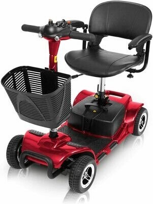 Vive 4 Wheel Mobility Scooter - Electric Powered Wheelchair Device  (Red)