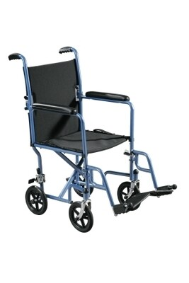 Transport Chair Steel Frame with Silver Vein Finish 250 lbs. Weight Capacity