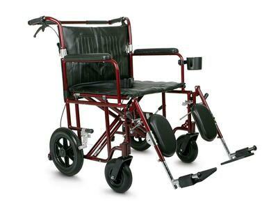 Freedom Plus Lightweight Bariatric Transport Chair 22
