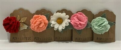 Pip and Lottie Hand Felted Hair Clips