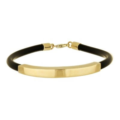 Hand Made 10kt Yellow Gold Bangle and Ruber