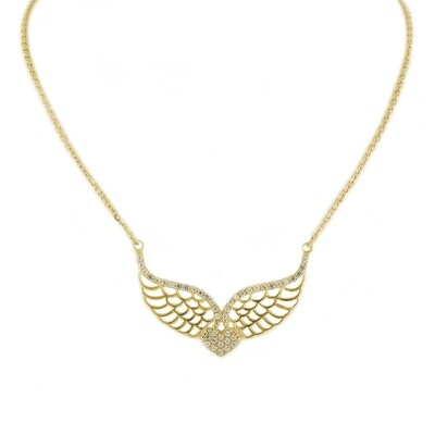 14kt Yellow Gold Necklace with Wings