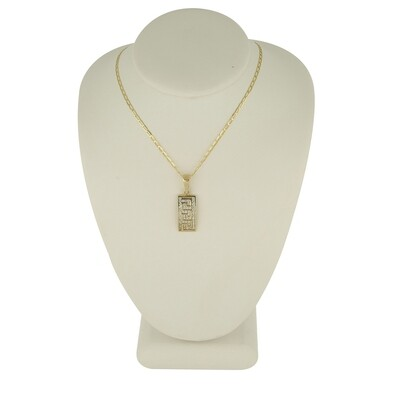 10kt Yellow Gold Chain with Cross