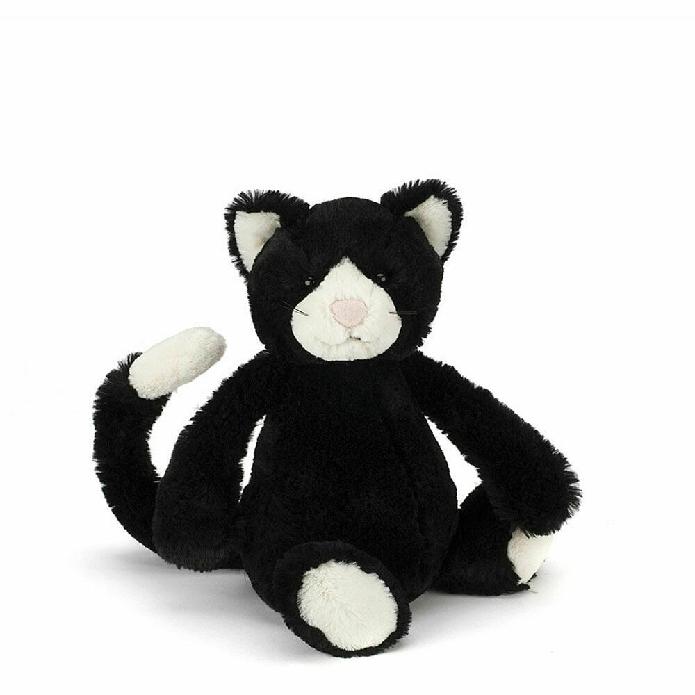 Bashful Black & White Kitten Small
