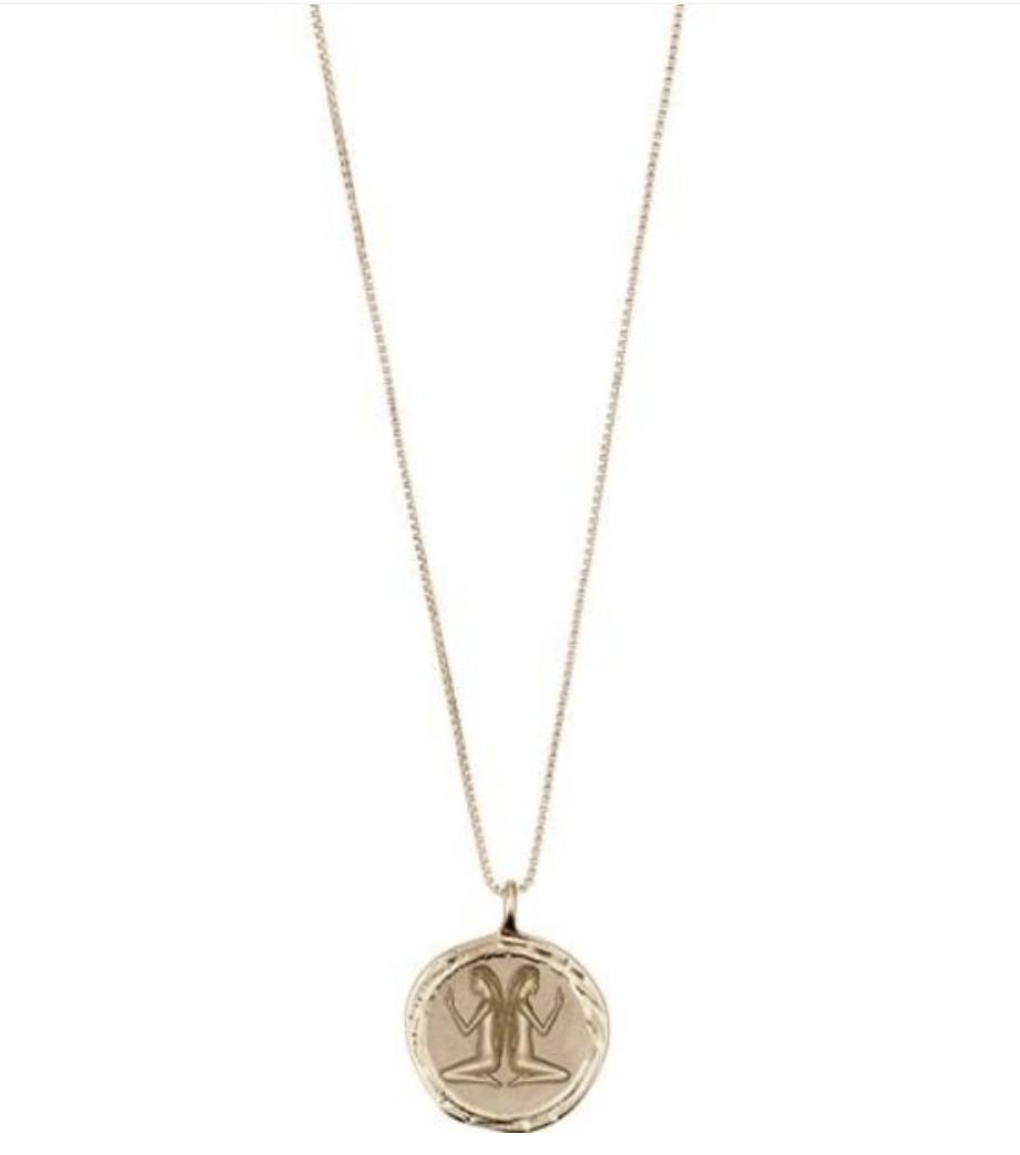 Horoscope Necklace Gemini Gold