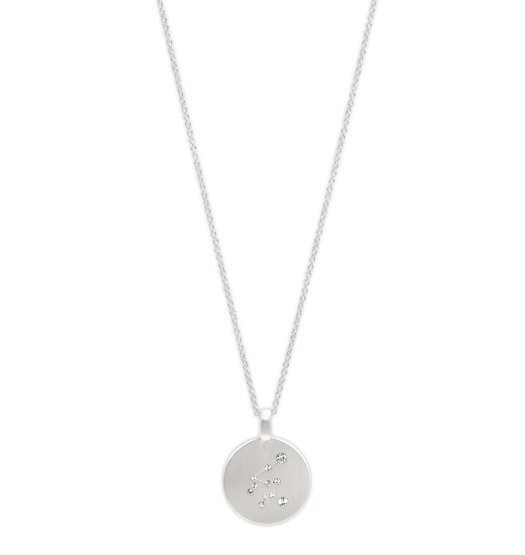 Star Sign Necklace Aquarius Silver
