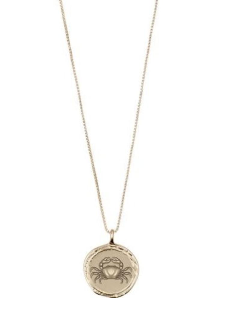 Horoscope Necklace Cancer Gold