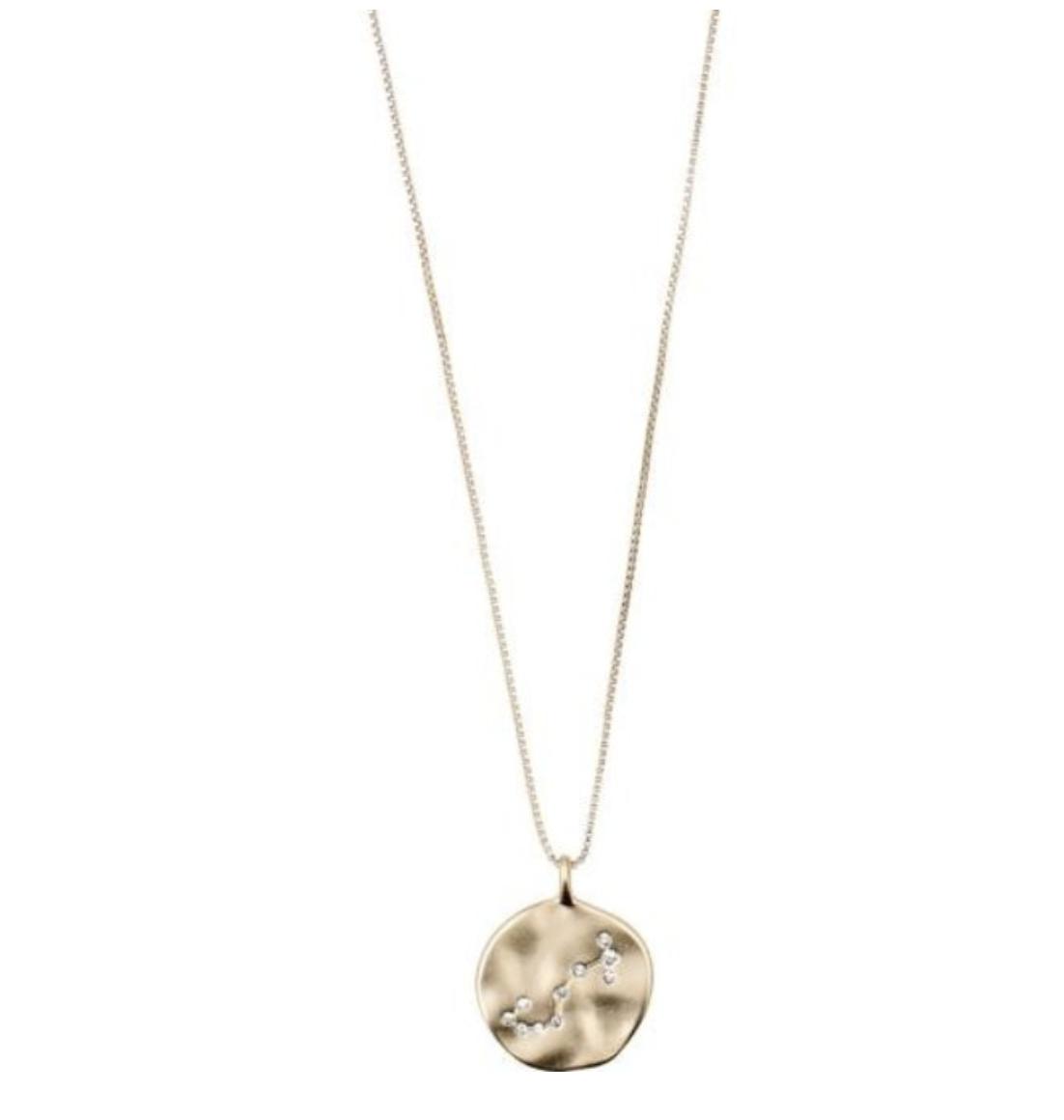 Horoscope Necklace Scorpio Gold
