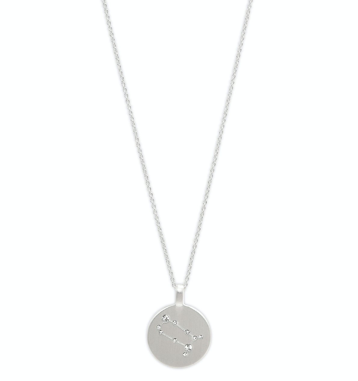 Star Sign Necklace Gemini Silver