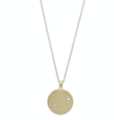 Star Sign Necklace Scorpio Gold (FINAL SALE - 70% Off)