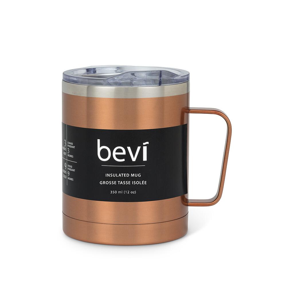 12oz Insulated Mug w/Lid - Copper