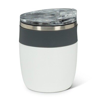 Insulated Tumbler - White w/Grey
