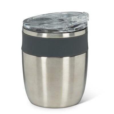 Insulated Tumbler - Silver w/Grey