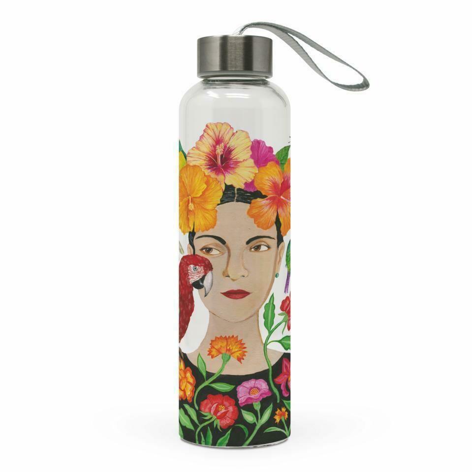 Glass Water Bottle - La Dolorosa