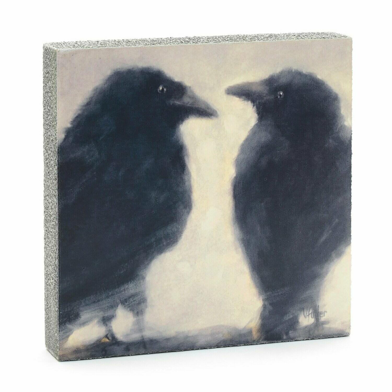 Lost & Found Art - Talking Ravens