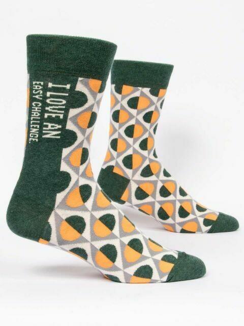 I Love an Easy Challenge M-Crew Sock