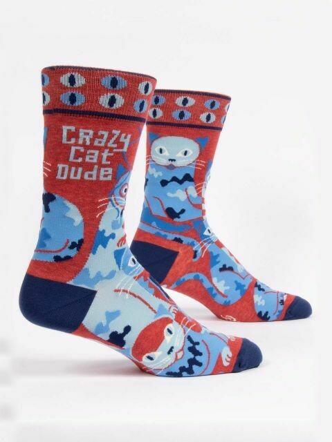 Crazy Cat Dude M-Crew Sock