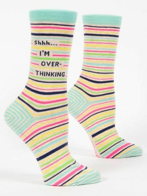 Shhh..I'm Overthinking W-Crew Sock