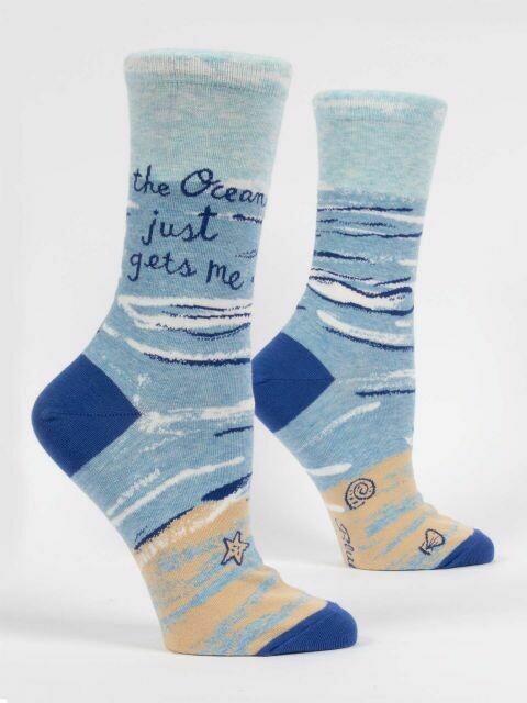 Ocean Gets Me W-Crew Socks