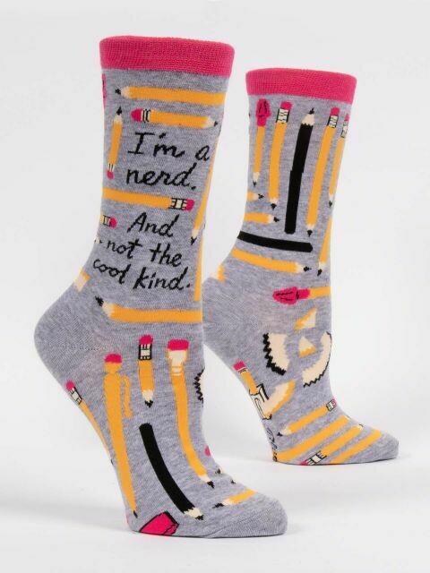 I'm A Nerd W-Crew Sock