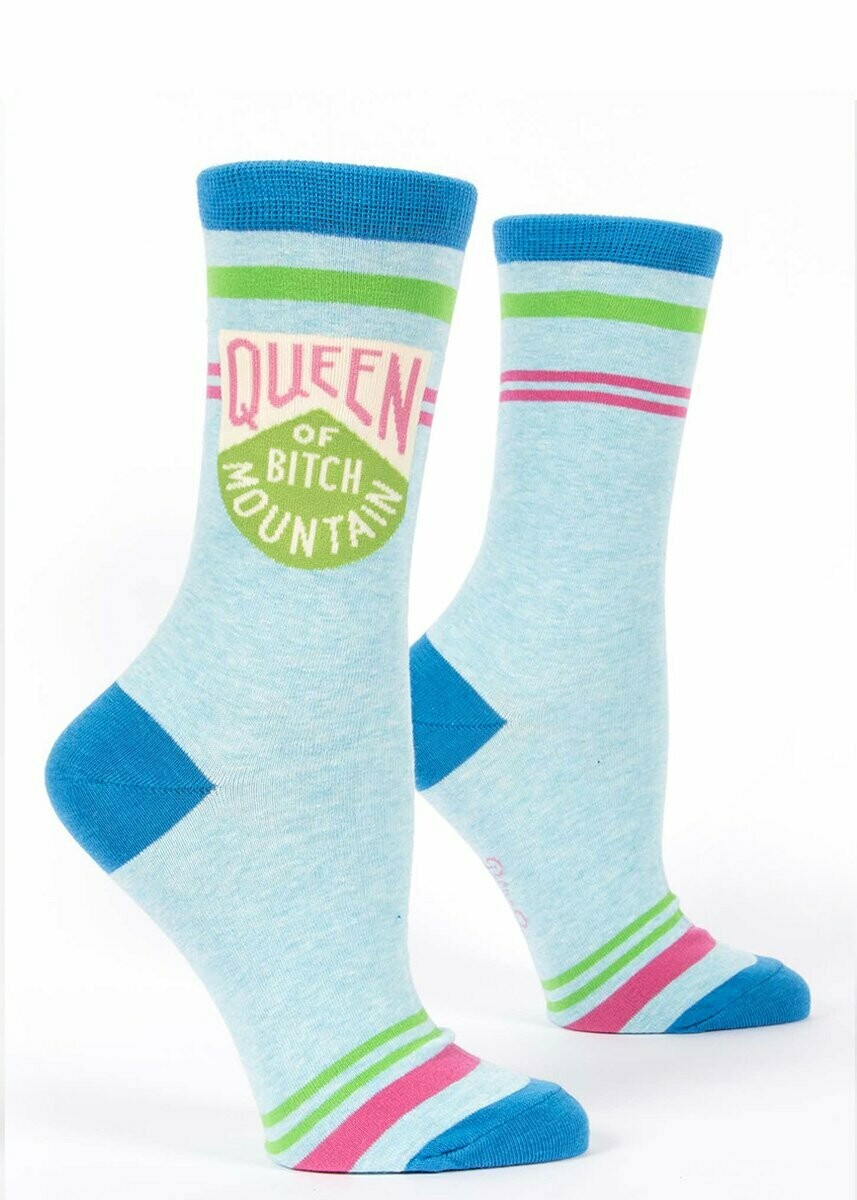 Queen of Bitch Mountain W-Crew Sock
