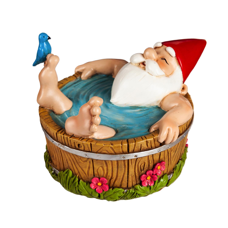 "8.5""L Bathing Summer Brights Gnome Garden"