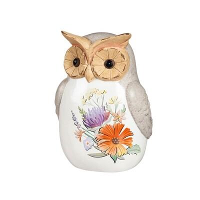 Ceramic Wildflower Owl L