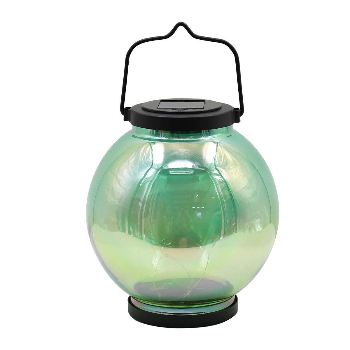 Iridescent Ombre Lantern, Round GREEN