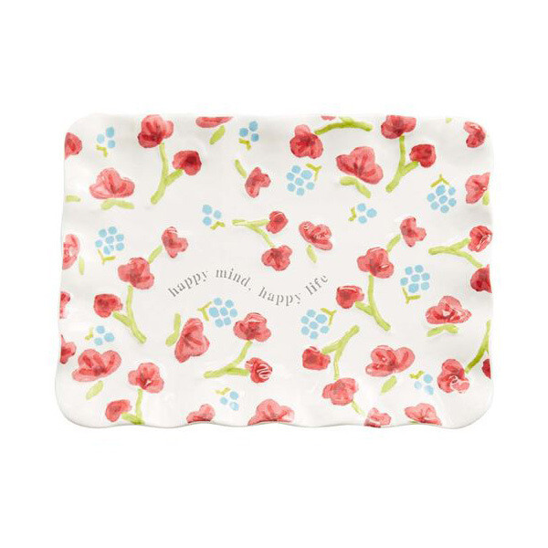 Floral Sentiment Tray Pink