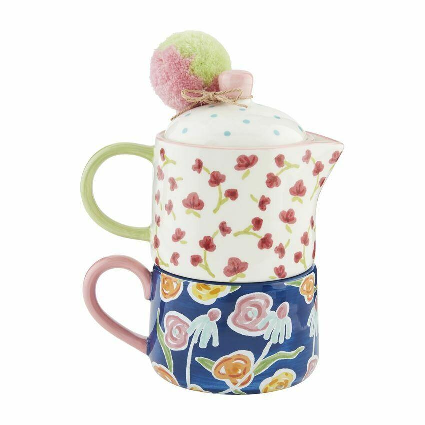 Floral Tea For One Set