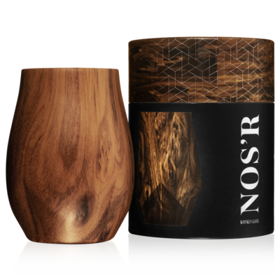 Nos'R Insulated Nosing Glass For Whiskey | Walnut
