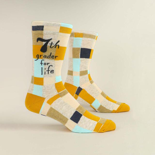 7th Grader For Life M-Crew Sock