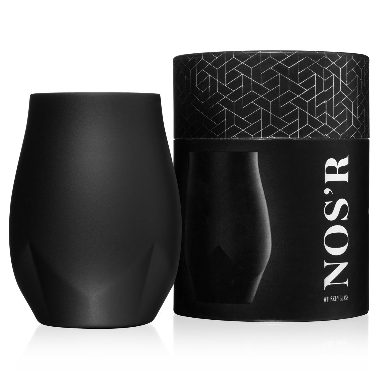 Nos'R Insulated Nosing Glass For Whiskey   Black